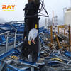 Hydraulic demolition screw shear concrete pulverizer for excavator used