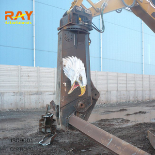 Hydraulic crawler bench-top metal shear for excavator