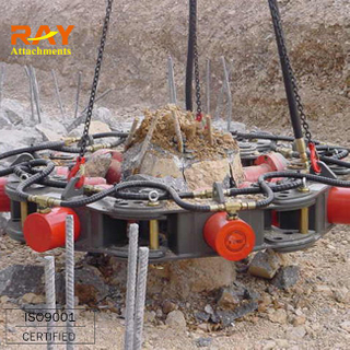 Hydraulic concrete pile breaking machine for excavator used