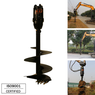 REA12000 model hydraulic Earth Auger drilling