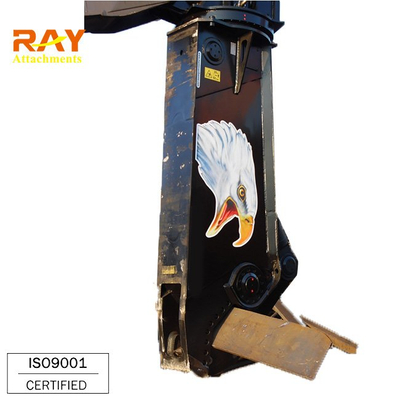Hydraulic metal shear cutter for excavator used