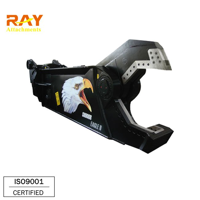 fully rotating scrap shear for demolition of steel structures