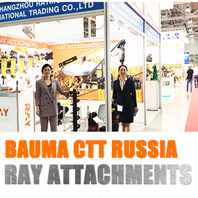 RAY Attachments get visitors welcomed in BAUMA CTT RUSSIA 2019